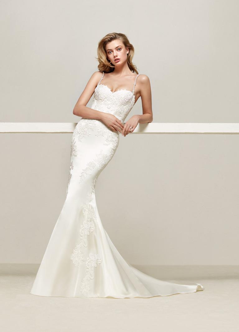 90c8044f37e6 Abiti a sirena  per le spose che hanno un fisico sinuoso e che vogliono  esaltarlo