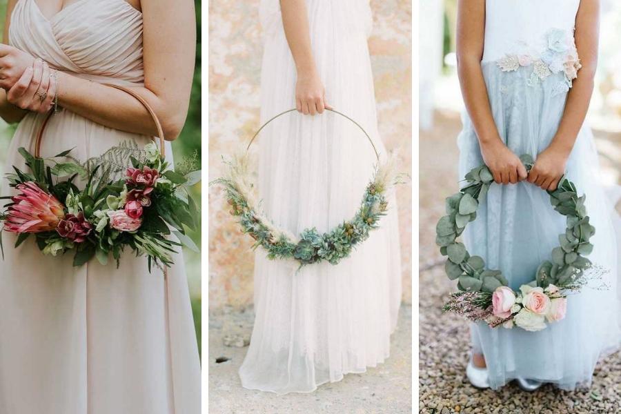 Bouquet Sposa Borsetta.Hoop Bouquet Una Elegante Novita Nel Mondo Wedding La Venere Di