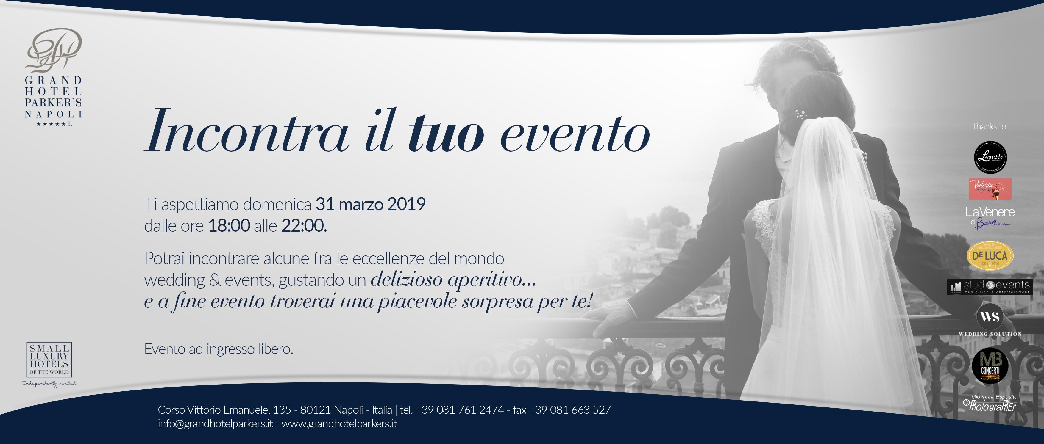 APERIWEDDING AL PARKER'S HOTEL CON LA VENERE DI BERENICE DOMENICA 31 MARZO 2019