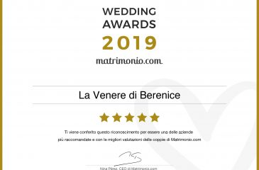 Wedding Awards 2019: La Venere di Berenice premiata per la categoria Sposa e accessori